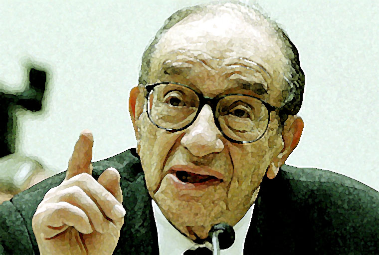Alan Greenspan Watercolor Portrait