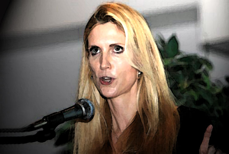 Ann Coulter Watercolor Portrait