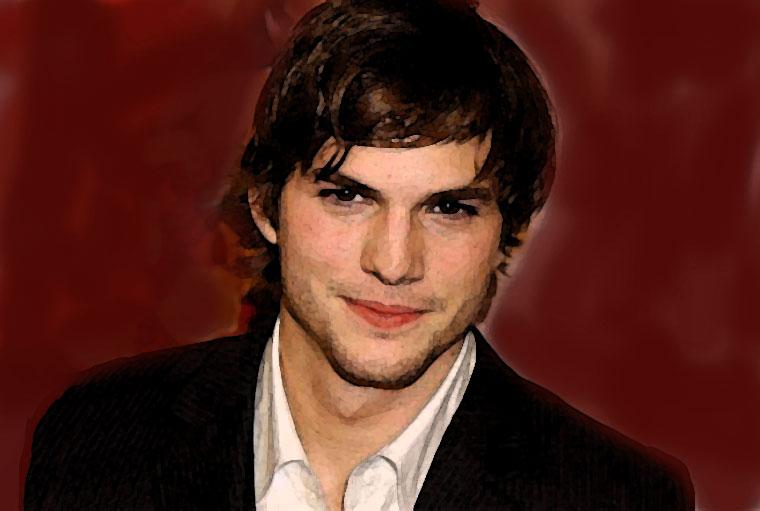 Ashton Kutcher Watercolor Portrait