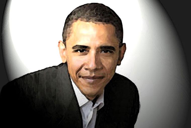 Barack Obama Watercolor Portrait