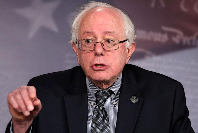 Bernie Sanders Watercolor Portrait