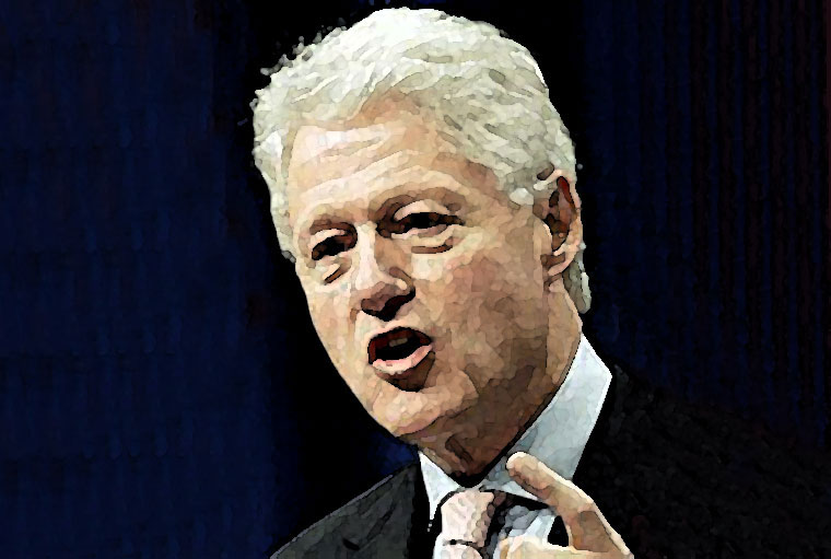 Bill Clinton Watercolor Portrait