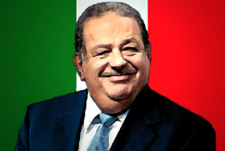 Carlos Slim Watercolor Portrait