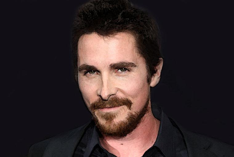 Christian Bale Watercolor Portrait