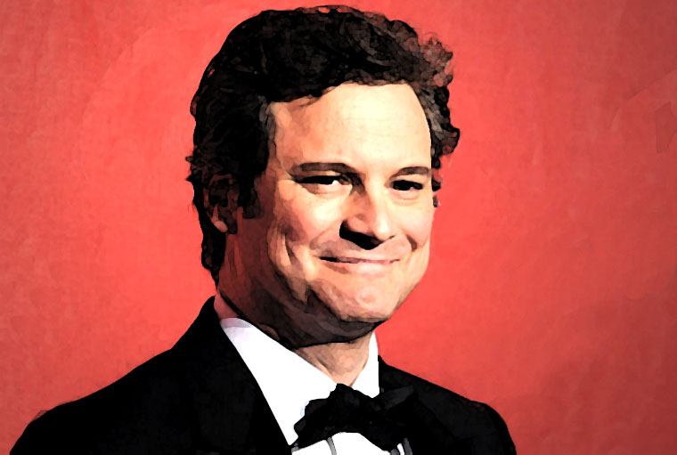Colin Firth Watercolor Portrait