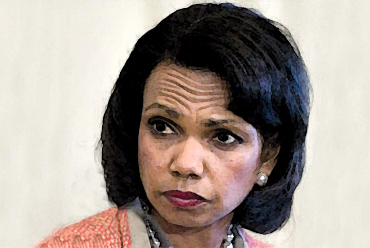 Condoleezza Rice Watercolor Portrait