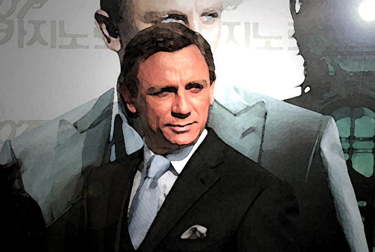 Daniel Craig Watercolor Portrait