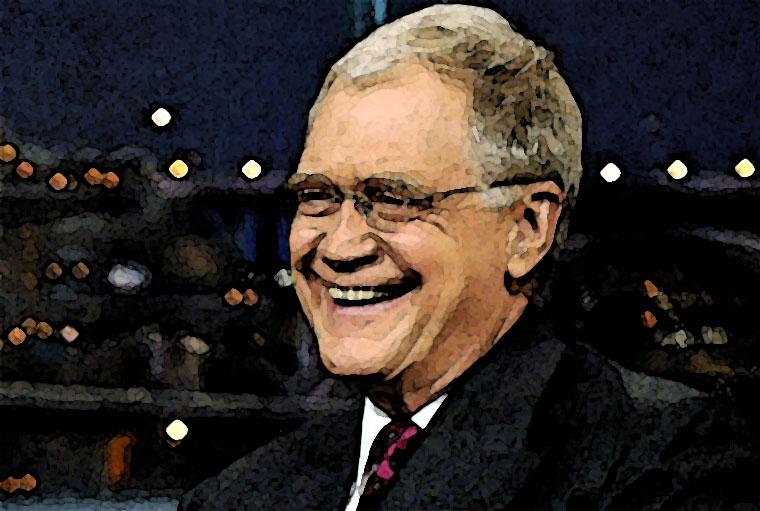 David Letterman Watercolor Portrait