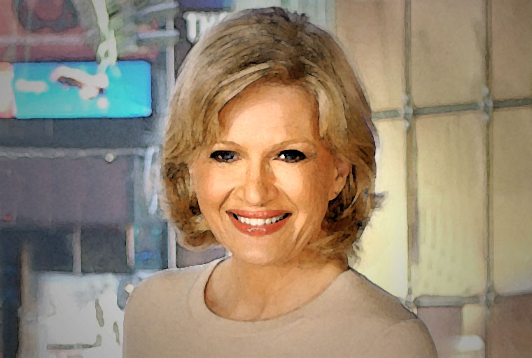 Diane Sawyer Watercolor Portrait