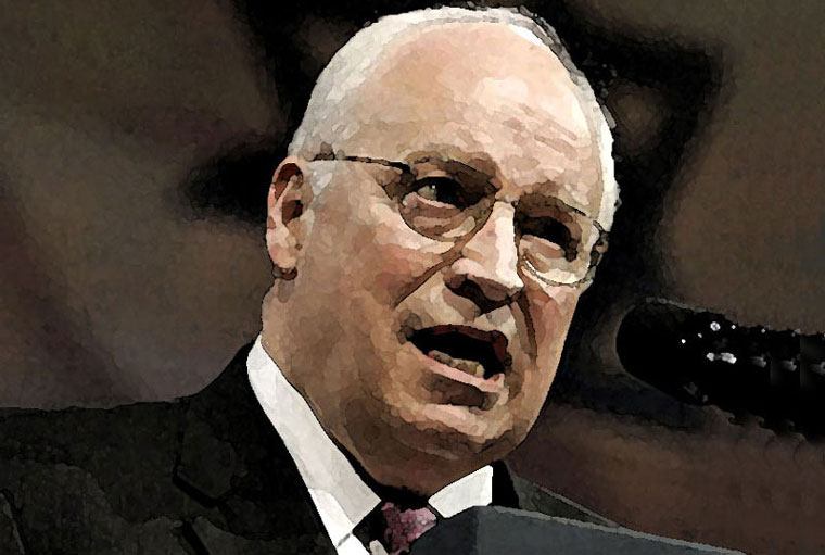 Dick Cheney Watercolor Portrait