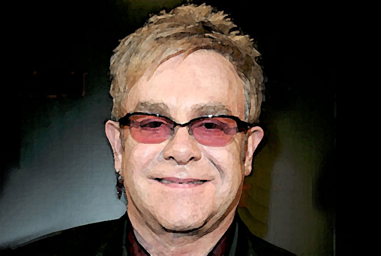 Elton John Watercolor Portrait