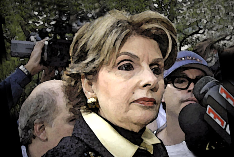 Gloria Allred Watercolor Portrait