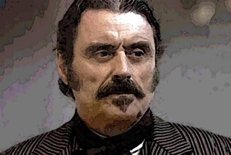 Ian McShane Watercolor Portrait