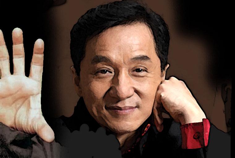 Jackie Chan Watercolor Portrait