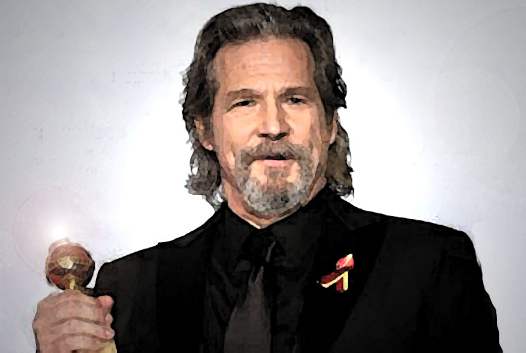 Jeff Bridges Watercolor Portrait