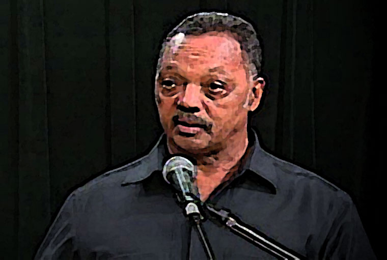 Jesse Jackson Watercolor Portrait