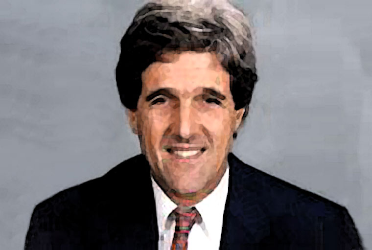 John Kerry Watercolor Portrait