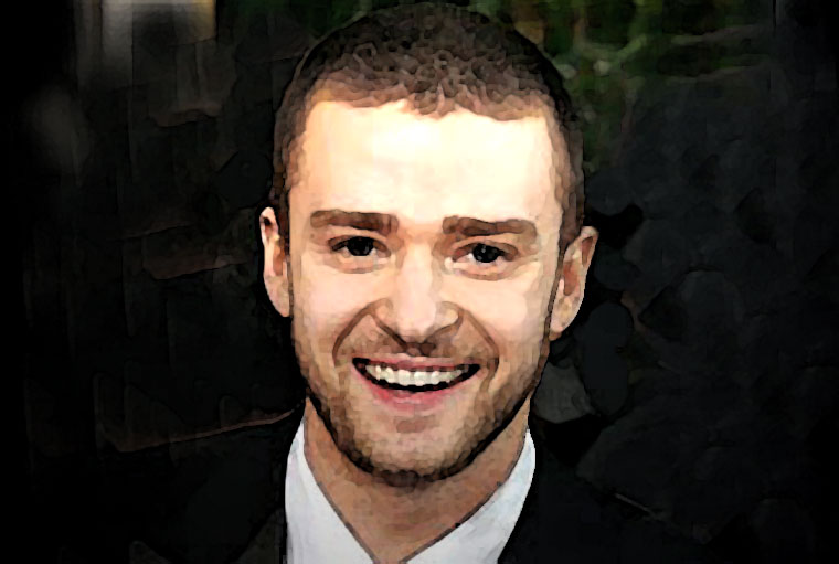 Justin Timberlake Watercolor Portrait