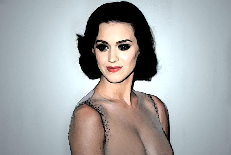 Katy Perry Watercolor Portrait
