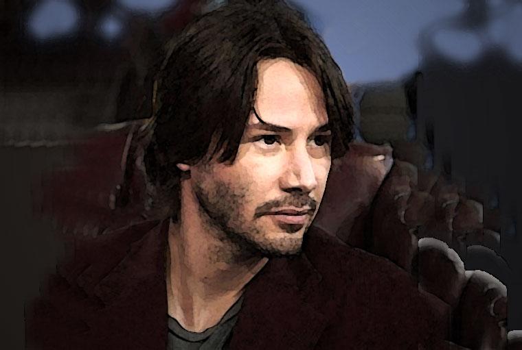 Keanu Reeves Watercolor Portrait