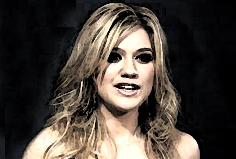Kelly Clarkson Watercolor Portrait
