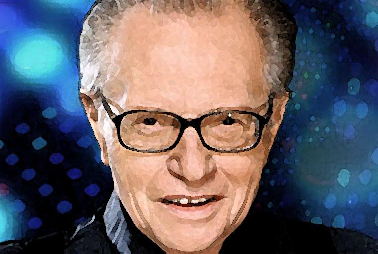 Larry King Watercolor Portrait