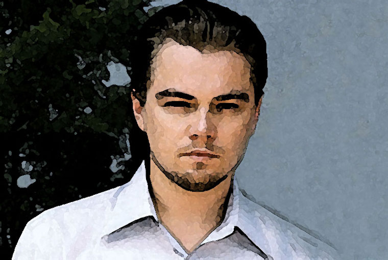 Leonardo DiCaprio Watercolor Portrait