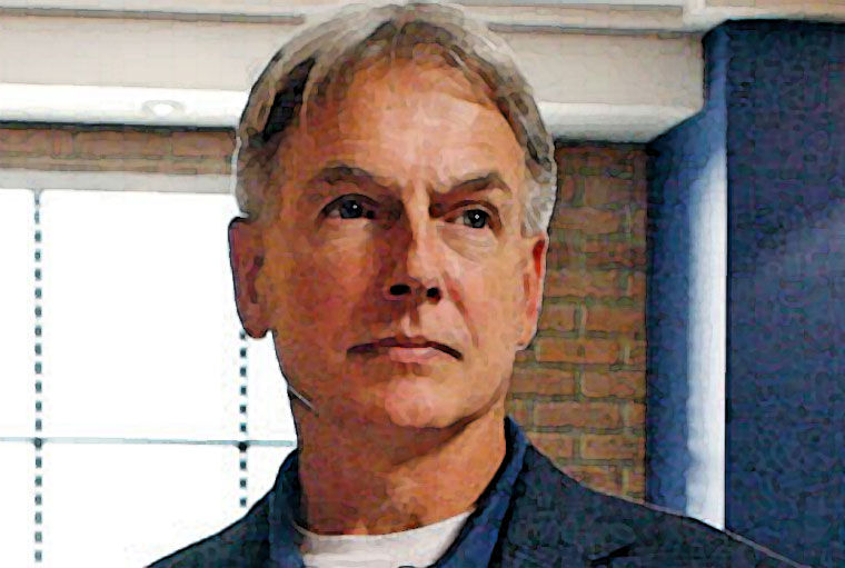 Mark Harmon Watercolor Portrait