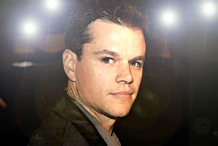 Matt Damon Watercolor Portrait