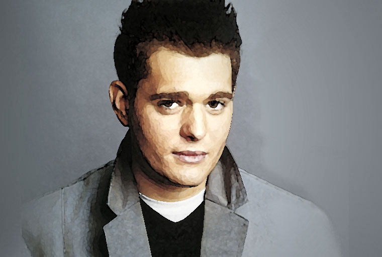 Michael Buble Watercolor Portrait