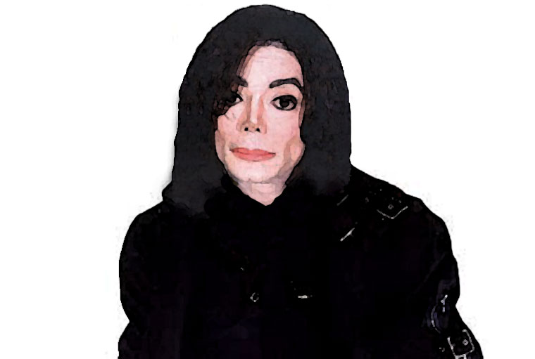 Michael Jackson Watercolor Portrait