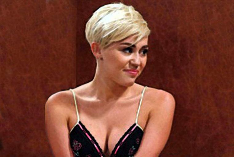 Miley Cyrus Watercolor Portrait