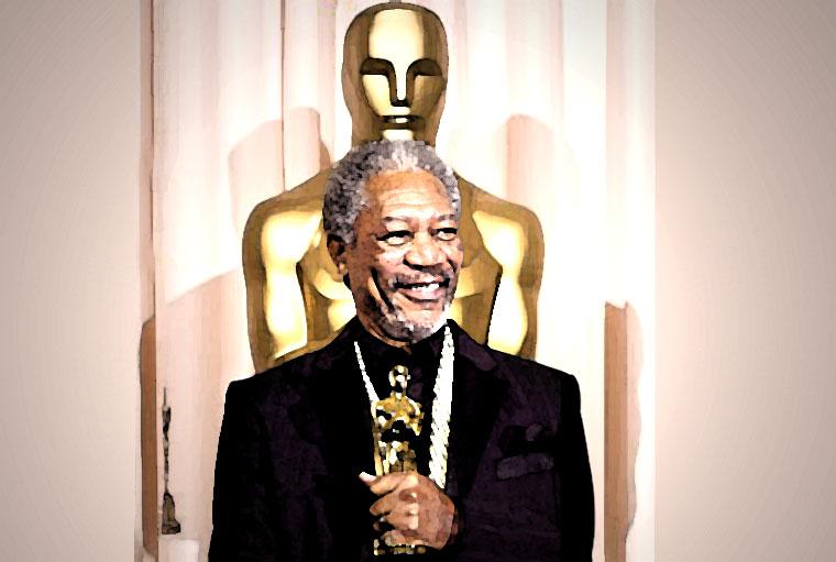 Morgan Freeman Watercolor Portrait