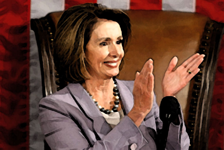 Nancy Pelosi Watercolor Portrait