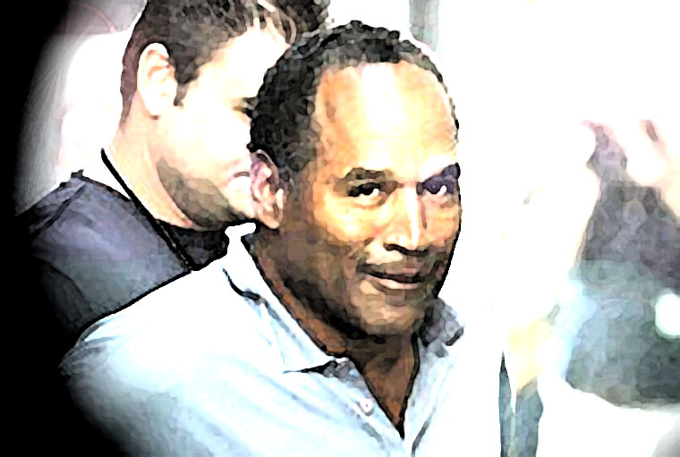 O.J. Simpson Watercolor Portrait
