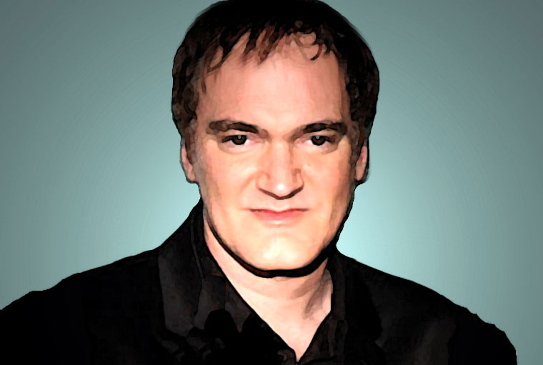 Quentin Tarantino Watercolor Portrait