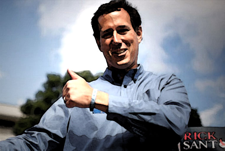 Rick Santorum Watercolor Portrait