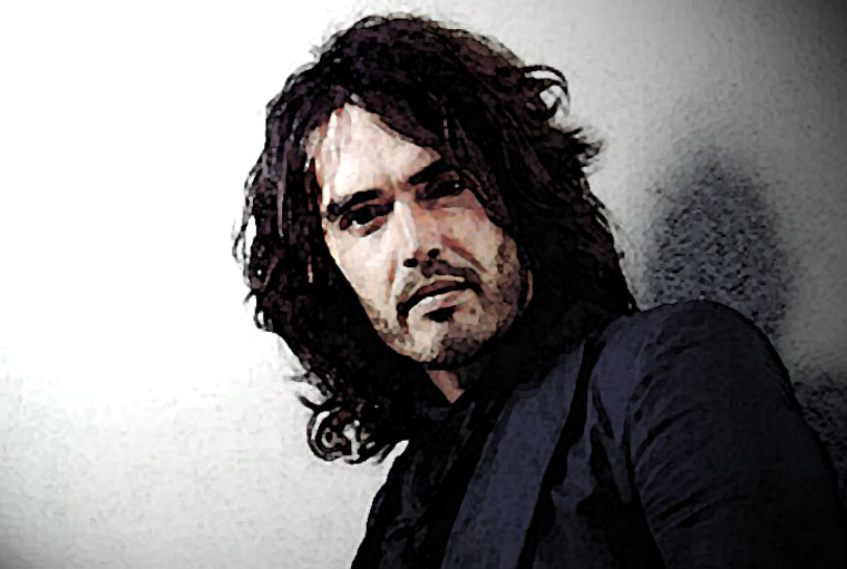 Russell Brand Watercolor Portrait