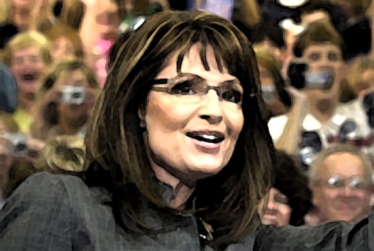Sarah Palin Watercolor Portrait