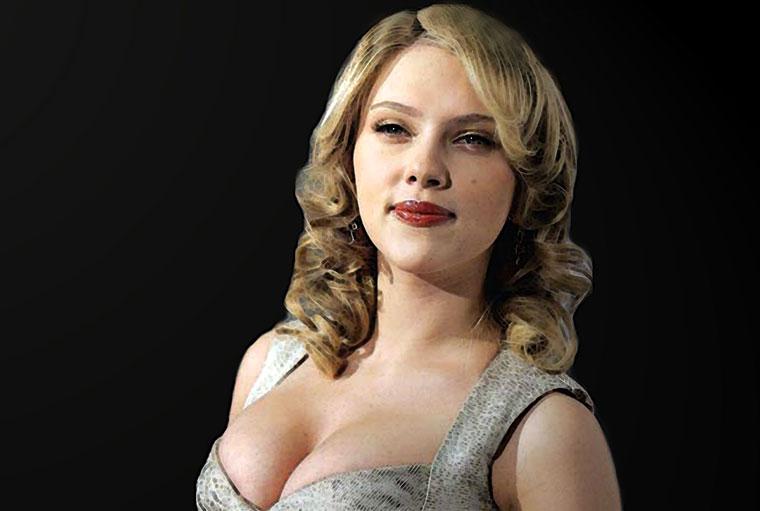 Scarlett Johansson Watercolor Portrait