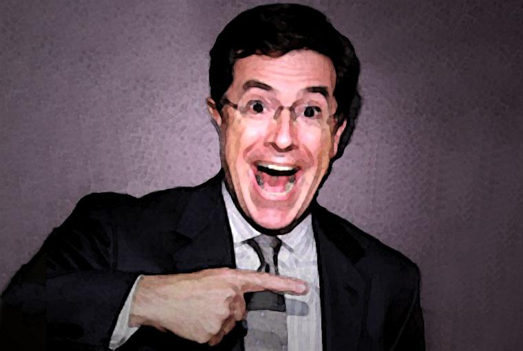 Stephen Colbert Watercolor Portrait