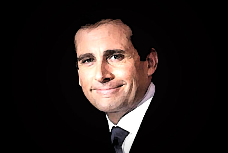 Steve Carell Watercolor Portrait