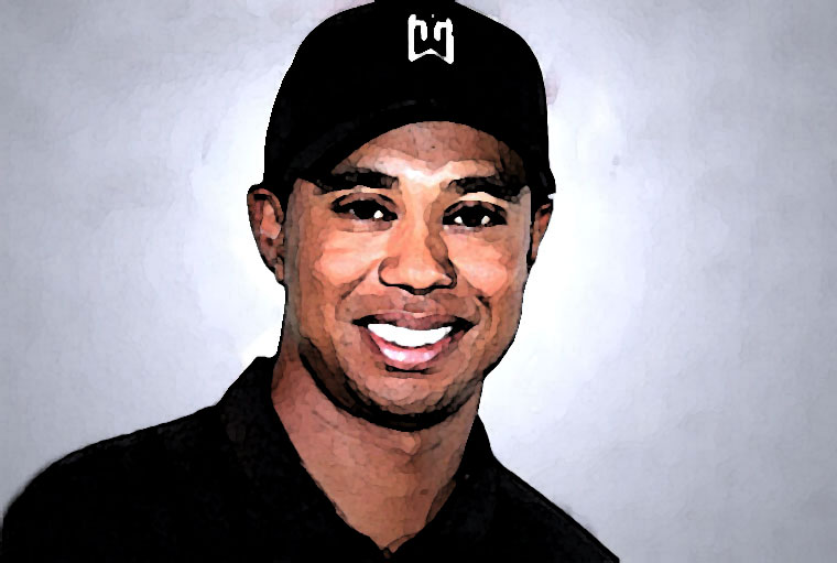Tiger Woods Watercolor Portrait
