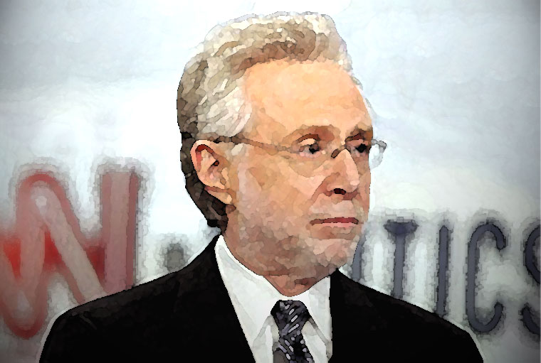 Wolf Blitzer Watercolor Portrait