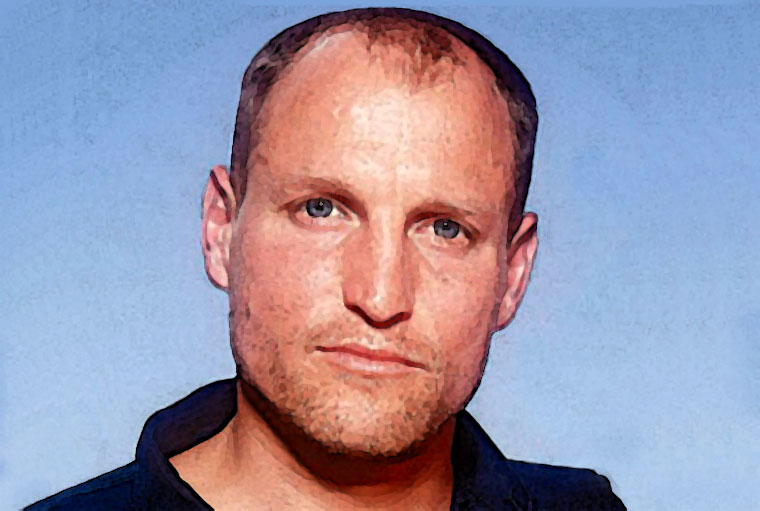 Woody Harrelson Watercolor Portrait